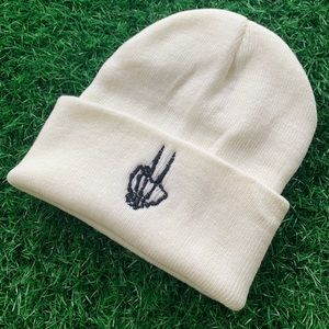 Embroidery Detail Beanie